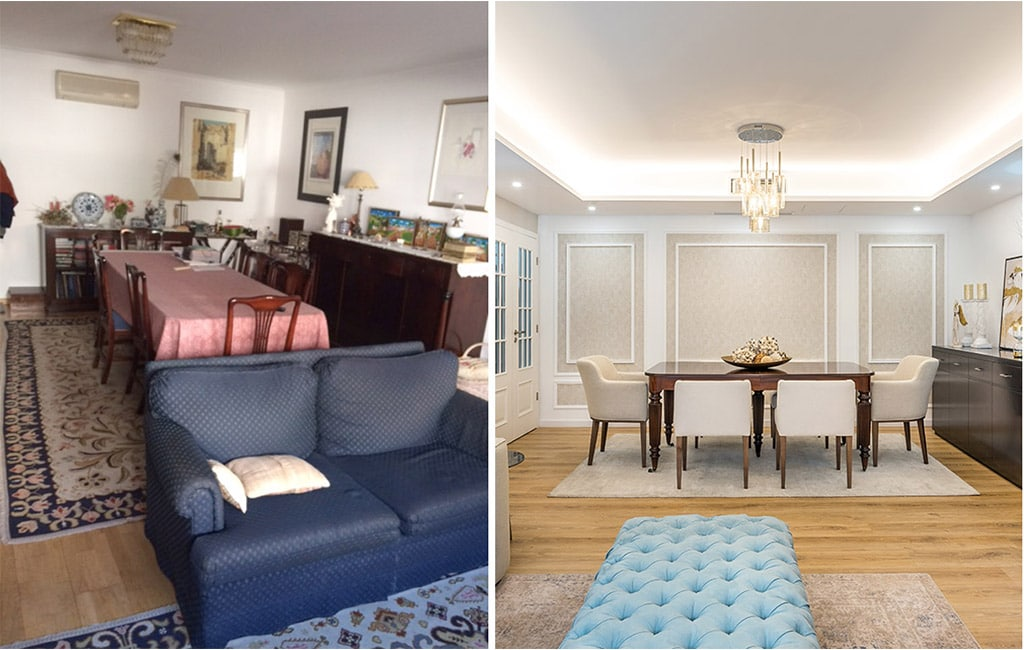 Antes Depois renovacao apartamento
